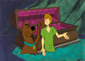 Animation Art:Production Cel, The Scooby-Doo Show/The Galaxie Goof Ups Scooby-Dooand Shaggy Production Cel Setup and Background (Hanna-... (Total: 3Items)
