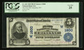 National Bank Notes:Wyoming, Cheyenne, WY - $5 1902 Plain Back Fr. 601 The First NB Ch. # (W)1800. ...