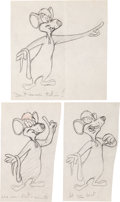 Animation Art:Production Drawing, Paying the Piper Production Drawings Original Animation Art(Warner Brothers, 1949).... (Total: 3 Original Art)