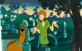 Animation Art:Production Cel, The Scooby-Doo Show/Challenge of the Super FriendsProduction Cel and Background (Hanna-Barbera, 1977-78).... (Total:7 )