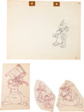 Animation Art:Production Drawing, Hop and Go Animation Drawing Group (Warner Brothers,1943).... (Total: 4 )
