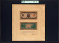 Fr. 836a $5 1914 Red Seal Federal Reserve Note Face and Back Essay Proof Courtesy Autographed Presentation Piece PCGS Ch...