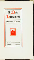 Books:Literature 1900-up, Sherwood Anderson. SIGNED/LIMITED. A New Testament. NewYork: Boni and Liveright, 1927. Edition limited to 265 numbe...