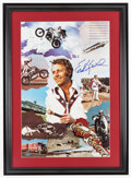Miscellaneous Collectibles:General, Evel Knievel Signed Oversized Print. ...