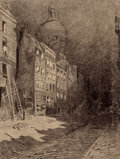 Pulp, Pulp-like, Digests, and Paperback Art, HENRIQUE ALVIM CORRÊA (Brazilian, 1876-1910). AbandonedLondon, from The War of the Worlds, Belgium edition,1906. P...