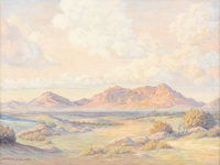 HARRIS SHELTON (1896-1976) Untitled Landscape Oil on canvas 18in. x 24in. Signed lower left  Harris Shelton studied ar...