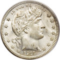Barber Quarters: , 1911-S 25C MS67 PCGS. An impeccably preserved Mint Staterepresentative of this low mintage (988,000 pieces) San Francisco...