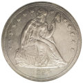 Seated Dollars: , 1850 $1 MS61 NGC. A scant 7,500 pieces were struck, which makes the1850 among the scarcest N...