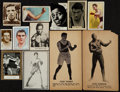 Boxing Cards:General, 1910's - 1970's USA and International Boxing Card Collection (50)....
