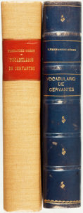 Books:Reference & Bibliography, Carlos Fernández Gómez. Vocabulario de Cervantes. Madrid,1962. Two duplicate volumes. One bound in cloth, the other...(Total: 2 Items)
