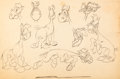 animation art:Model Sheet, Nothing But the Tooth Horse Model Sheet (Warner Brothers,1948)....