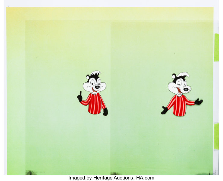 Bugs Bunnys Mad World Of Television Pepe Lepew Production Cel Lot