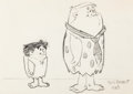 Animation Art:Production Drawing, The Flintstones Caricature Sketch by Tony Benedict(Hanna-Barbera, 1963)....
