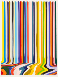 IAN DAVENPORT (British, b. 1966) Etched Lines: Thirty Five, 2008 Etching on paper 27-1/4 x 20-1/2