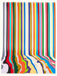 IAN DAVENPORT (British, b. 1966) Etched Lines: Thirty Four, 2008 Etching on paper 27-1/4 x 20-1/2