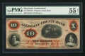 Obsoletes By State:Maryland, Cumberland, MD- The Allegany County Bank $10 Jan. 4, 1860 G8b. ...