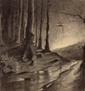 Paintings, HENRIQUE ALVIM CORRÊA (Brazilian, 1876-1910). Martian in the Forest, from The War of the Worlds, Belgium edition, 19...
