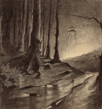 HENRIQUE ALVIM CORRÊA (Brazilian, 1876-1910) Martian in the Forest, from The War of the Worlds