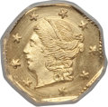 California Fractional Gold: , 1871 25C Liberty Octagonal 25 Cents, BG-714, R.3, MS66 NGC. NGCCensus: (7/2). PCGS Population (27/2). ...