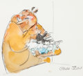 Animation Art:Production Drawing, Chuck Jones - Marc Antony and Kitty Illustration (Warner Brothers,1999)....
