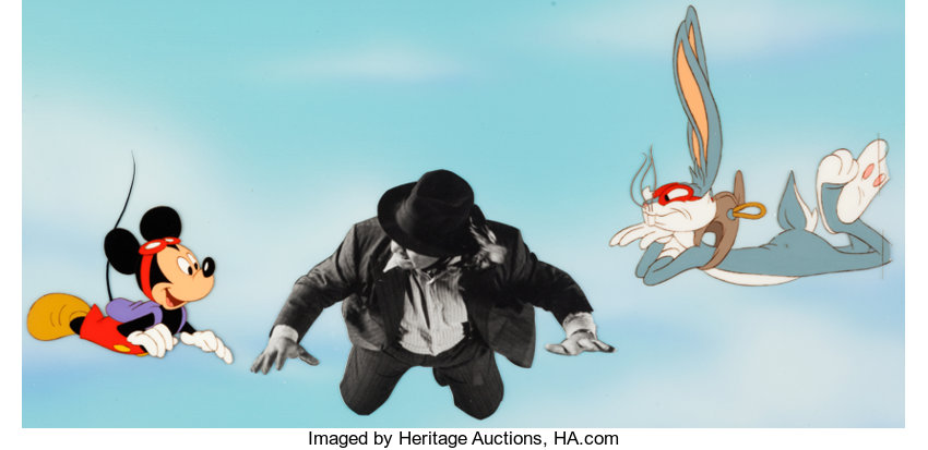 Who Framed Roger Rabbit? Mickey Mouse and Bugs Bunny Production Cel ...