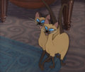 Animation Art:Production Cel, Lady and the Tramp Si and Am Production Cel Setup (WaltDisney, 1955)....