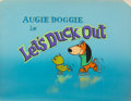 Animation Art:Production Cel, Augie Doggie in Let's Duck Out Main Title ProductionCel Setup (Hanna-Barbera, 1962).... (Total: 2 Items)