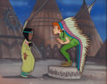 Animation Art:Production Cel, Peter Pan Peter and Tiger Lily Production Cel Setup (WaltDisney, 1953)....