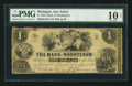 Obsoletes By State:Michigan, Ann Arbor, MI- The Bank of Washtenaw $1 May 1, 1854 G40a. ...