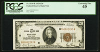 Fr. 1870-B $20 1929 Federal Reserve Bank Note. PCGS Extremely Fine 45