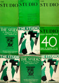 Books:Art & Architecture, [Art Periodical] Group of Nine Issues of The Studio. 1925-1934. Original wrappers. Some edgewear. Very good. From ... (Total: 9 Items)