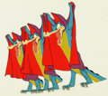 "Animation Art:Production Cel, Fantasia ""Dance of the Hours"" Alligators Production Cel(Walt Disney, 1940)...."