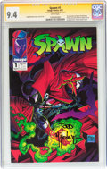Modern Age (1980-Present):Superhero, Spawn #1 Signature Series (Image, 1992) CGC NM 9.4 White pages....