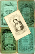 Books:Literature Pre-1900, Charles Dickens. Three Partial Editions in the Original Wrappers.Lot includes: the illustrations to Nicholas Nickleby (...(Total: 11 Items)