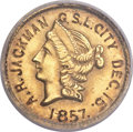 California Fractional Gold , 1853 50C Liberty Round 50 Cents, BG-429, Low R.4 -- Engraved -- NCSGenuine....