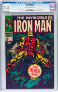 Silver Age (1956-1969):Superhero, Iron Man #1 (Marvel, 1968) CGC VF- 7.5 Off-white to white pages....
