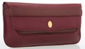 """Luxury Accessories:Accessories, Cartier Burgundy Leather Clutch Bag. Very Good Condition.11"""" Width x 6.5"""" Height x 1.5"""" Depth. ..."""