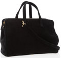 Luxury Accessories:Accessories, Fendi Large Black Velvet Tote with Gold Hardware. ...