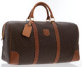 Luxury Accessories:Travel/Trunks, Celine Brown Monogram Canvas Duffle Bag with Gold Hardware . ...