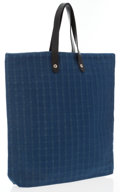 Luxury Accessories:Bags, Hermes Blue Canvas Ahmedadbad Tote Bag with Palladium Hardware ....