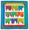 "Luxury Accessories:Accessories, Hermes Blue, Green & Red Multicolor ""Sangles,"" by Joachim MetzSilk Scarf . ..."