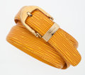 Luxury Accessories:Accessories, Louis Vuitton Yellow Epi Leather Belt with Gold Buckle . ...