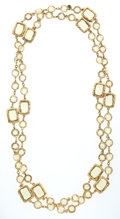 Luxury Accessories:Accessories, Chanel Citrine & Gold Sautoir Necklace. ...