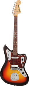 Musical Instruments:Electric Guitars, 1965 Fender Jaguar Sunburst Solid Body Electric Guitar, Serial # L77661....