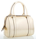 Luxury Accessories:Bags, Christian Dior Metallic Gold Monogram Leather Small Tote Bag . ...