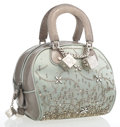 Luxury Accessories:Bags, Christian Dior Green Satin, Python & Beaded Gambler Tote Bag ....