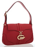 Luxury Accessories:Accessories, Gucci Red Leather Shoulder Bag. ...