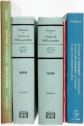 Books:Reference & Bibliography, [Bibliography.] Group of Five Bibliographies Related to Classical Studies. Various publishers and dates. [Includes:] Josep... (Total: 5 Items)
