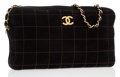 Luxury Accessories:Bags, Chanel Black Quilted Square Suede Camera Bag with Brushed GoldHardware . ...