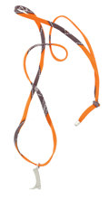 Luxury Accessories:Accessories, Hermes Orange H Silk & Silver Boot Saut Hermes 2012 Necklace ....